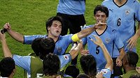 Radost fotbalistů Uruguaye na MS hráčů do 20 let