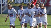 Fotbalisté Kladna se radují z výhry nad Slováckem
