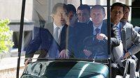 Vitalij Mutko vedle Vladimíra Putina za volantem.