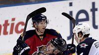Tomáš Fleischmann se raduje z gólu do sítě Winnipegu.