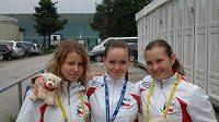 Zlaté juniorky Brabcová, Vranková a Mazurová (odleva)