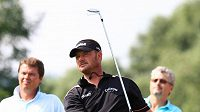 Golfista Alex Čejka na hřišti ve Zbraslavi