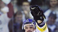 Liberecký útočník Pavel Kašpařík se raduje po vstřelení gólu.