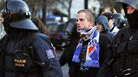 Fanoušci Baníku se chovali na zápase se Slavií slušně.