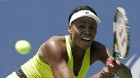 Americká tenistka Venus Williamsová během zápasu s Ruskou Dementěvovou.