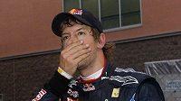 Sebastian Vettel. Získal titul a rozplakal se.