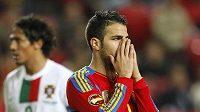 Zklamaný Španěl Cesc Fabregas po utkání s Portugalskem