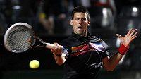 Sbrský tenista Novak Djokovič při utkání 3. kola turnaje v Římě.