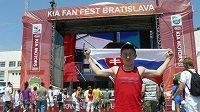 Na Štefánikově náměstí v Bratislavě se u velkoplošné obrazovky sešly stovky fanoušků.