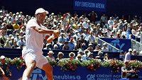 Německý tenista Andreas Beck během semifinále turnaje v Gstaadu