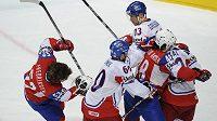 Strkanice mezi českými a norskými hokejisty