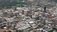 Pohled na Pretorii, hlavní město Jihoafrické republiky
