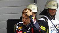 Zklamaný Sebastian Vettel po závodu na Nürburgringu.