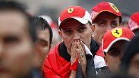 Zklamaní fanoušci stáje Ferrari