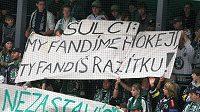 Fanoušci Mladé Boleslavi dali při duelu s Plzní jasně najevo, co si o trestu pro svůj klub myslí.