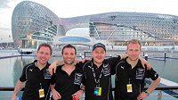 Kvartet jezdců týmu Young Driver AMR Christoffer Nygaard, Darren Turner, Tomáš Enge a Stefan Mücke (zleva), kteří pojedou mistrovství světa vozů GT1.