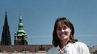 Martina Hingisová si stihla před exhibicí na Štvanici projít Prahu.