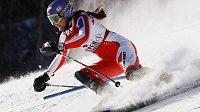Šárka Záhrobská při prvním kole slalomu SP v Aspenu.
