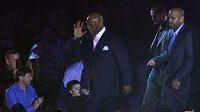 Boxer Mike Tyson na galavečeru v Praze