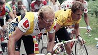 Laurent Fignon (vlevo) po boku Grega LeMonda při Tour de France.