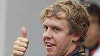 Sebastian Vettel po kvalifikaci na GP Koreje.