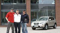 David Salomon, Stanislav Šubrt a Igor Salomon - čeští účastníci BMW X3 Games