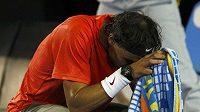 Zklamaný španělský tenista Rafael Nadal