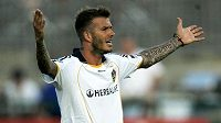 David Beckham v dresu Los Angeles Galaxy.