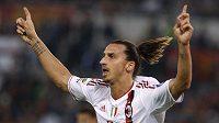 Radost útočníka AC Milán Zlatan Ibrahimovič