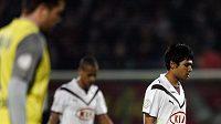 Zklamaní fotbalisté Girondins Bordeaux. Vpravo Benoit Tremoulinas.