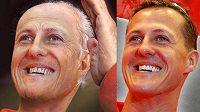 Michael Schumacher jako stařík a jeho aktuální podoba.
