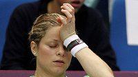 Kim Clijstersová po loňské prohře v pařížském finále.