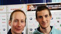 Lukáš Bauer (vlevo), ani Martin Jakš se na start sprinterských závodů v Liberci nepostaví.
