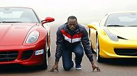 Usain Bolt a jeho dva konkurenti