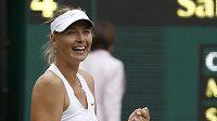 Radost ruské tenistky Marie Šarapovové