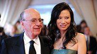 Mediální magnát Rupert Murdoch se svou novou ženou.