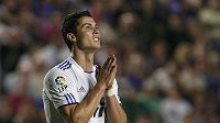 Cristiano Ronaldo z Realu Madrid během zápasu s Levante.