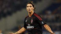 Švédský útočník ve službách AC Milán Zlatan Ibrahimovič
