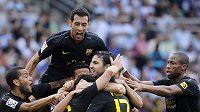 Barcelona se nejprve radovala z dvoubrankového náskoku, pak ale v San Sebastianu jen remizovala.