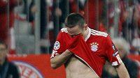 Smutný fotbalista Bayernu Mnichov Franck Ribéry