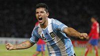 Argentinec Sergio Agüero byl nejlepším hráčem v duelu s Kostarikou. Co předvede proti Uruguayi