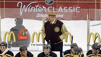 Střídačka hokejistů Bostonu