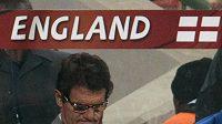 Smutný trenér anglické fotbalové reprezentace Fabio Capello