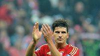 Mario Gomez v dresu Bayernu Mnichov