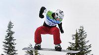 Snowboardcrossař Michal Novotný během olympijského závodu
