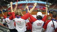 Čeští tenisoví fanoušci v Poreči