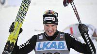 Radost švýcarského lyžaře Daria Cologny