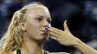 Dánská tenistka Caroline Wozniacká na US Open