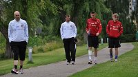 Čeští fotbalisté ve Viborgu. Hotel si zde pochvalovali, ale museli se z měj odstěhovat
