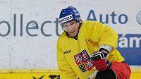 Petr Průcha na tréninku hokejové reprezentace.